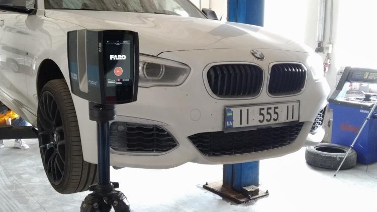 Сканування бампера автомобіля BMW