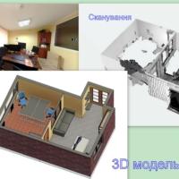 Создание 3д модели помещений